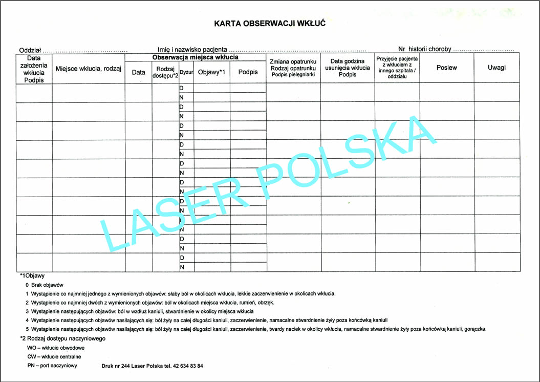 Laser Polska - recepty, druki numerowane, recepta, druki
